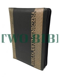 Biblia Ekumeniczna z księgami deuterokanonicznymi, oprawa miękka, skórzana, złocenia, zamek