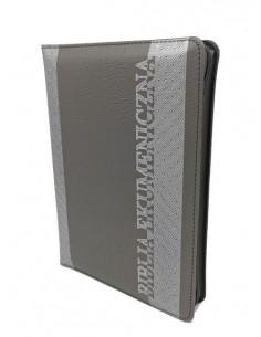 Biblia Ekumeniczna bez ksiąg deuterokanonicznych, oprawa miękka skórzana, srebrzenia, zamek