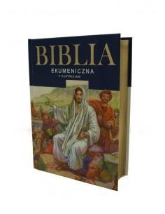 Biblia Ekumeniczna z ilustracjami, oprawa twarda, złocenia